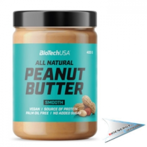 Biotech Usa-PEANUT BUTTER All Natural SMOOTH  (conf. 400 gr.)